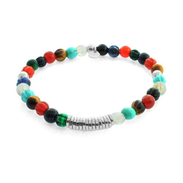 Tateossian Multi-Colour Stone Bracelet