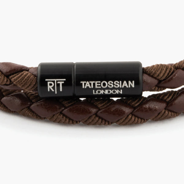 Tateossian Brown Eco-Leather Chelsea Bracelet