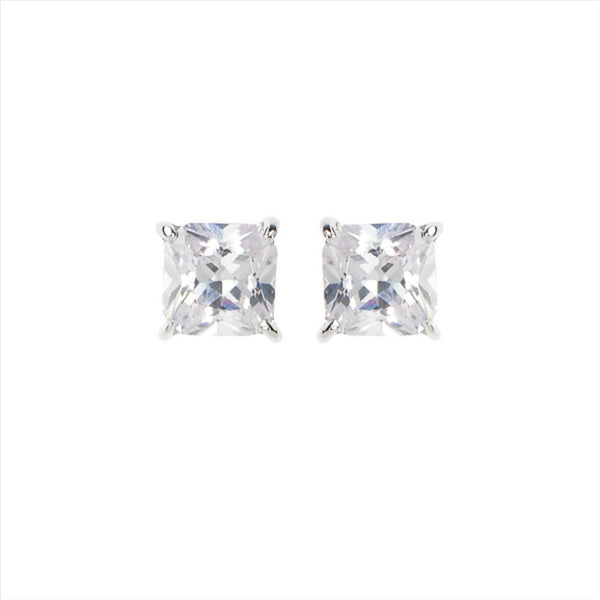 GEORGINI 5mm Clear Square Stud Earrings
