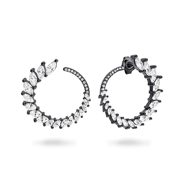 GEORGINI Orion Black Rhodium Earring