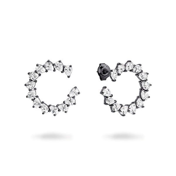 GEORGINI Vela Black Rhodium Earring