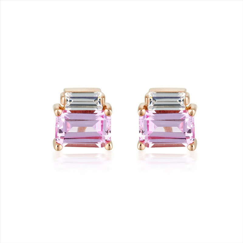 GEORGINI Emilio Pink Baguette Earrings