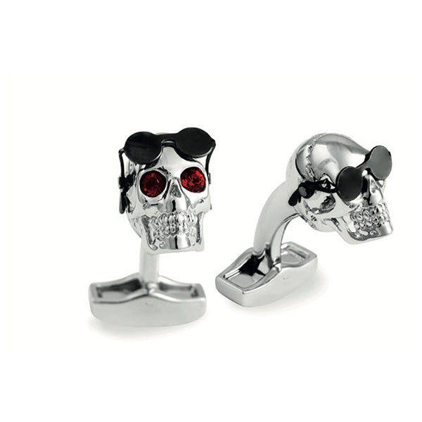 Tateossian Mechanical Aviator Skull Cufflinks