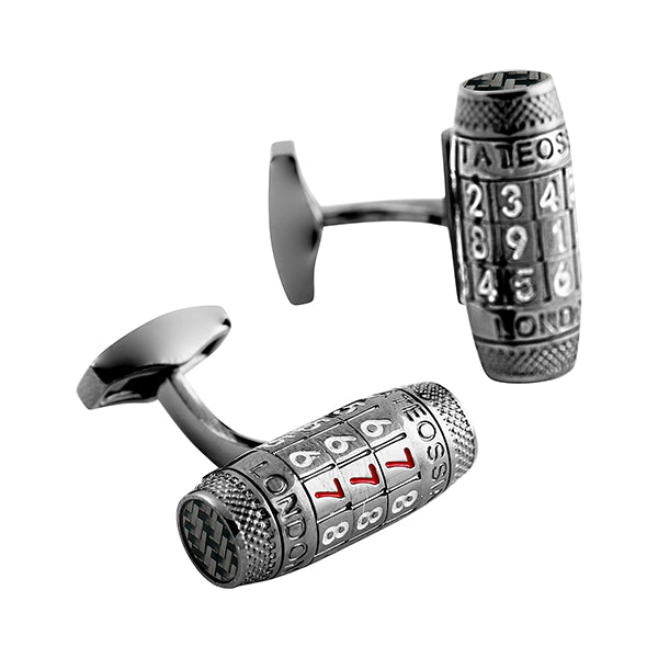 Tateossian Lucky 7 Combination Lock Cufflinks