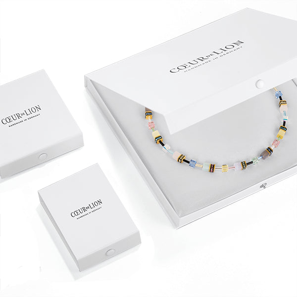 COEUR DE LION GeoCUBE® Fresh Rainbow Gold Necklace