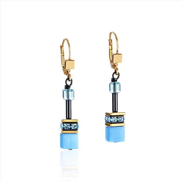 COEUR DE LION GeoCUBE® Fresh Rainbow Gold Earrings