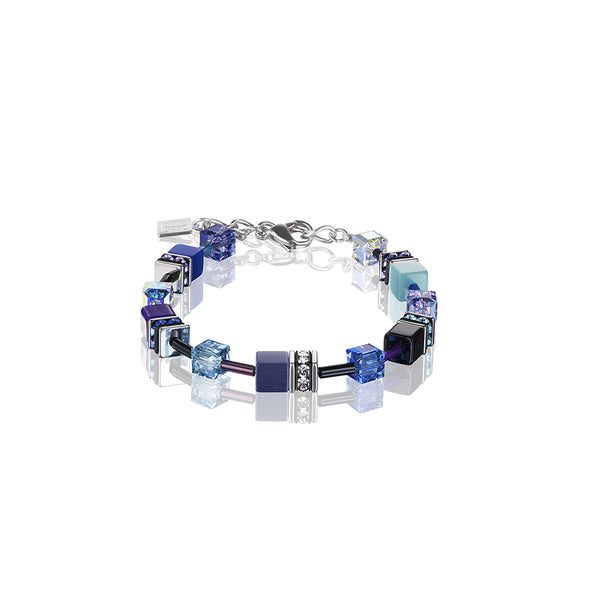 COEUR DE LION GeoCUBE® Navy Blue Purple Bracelet