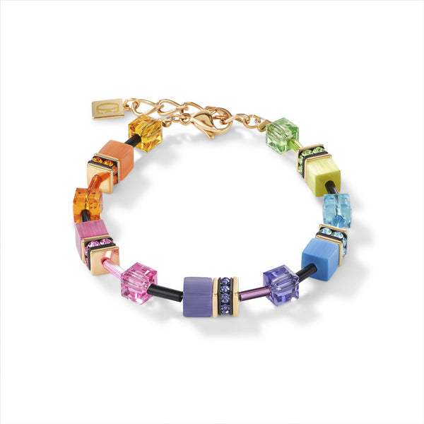 COEUR DE LION GeoCUBE® Fresh Rainbow Gold Bracelet