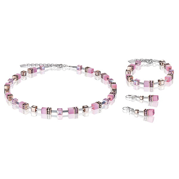 COEUR DE LION GeoCUBE® Soft Rose Pink Necklace