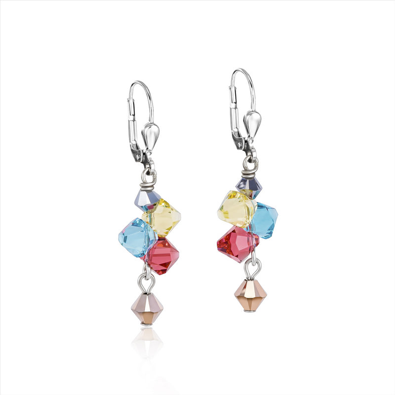 COEUR DE LION Multicolour Pastel Crystal Earrings