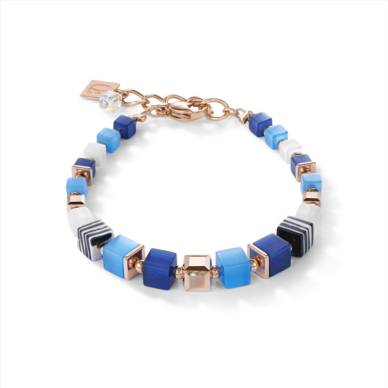 COEUR DE LION GeoCUBE® Malachite Fresh Sky Blues Bracelet