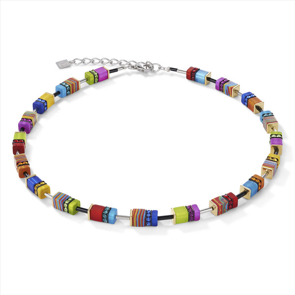 COEUR DE LION GeoCUBE® Malachite Multicolour Necklace