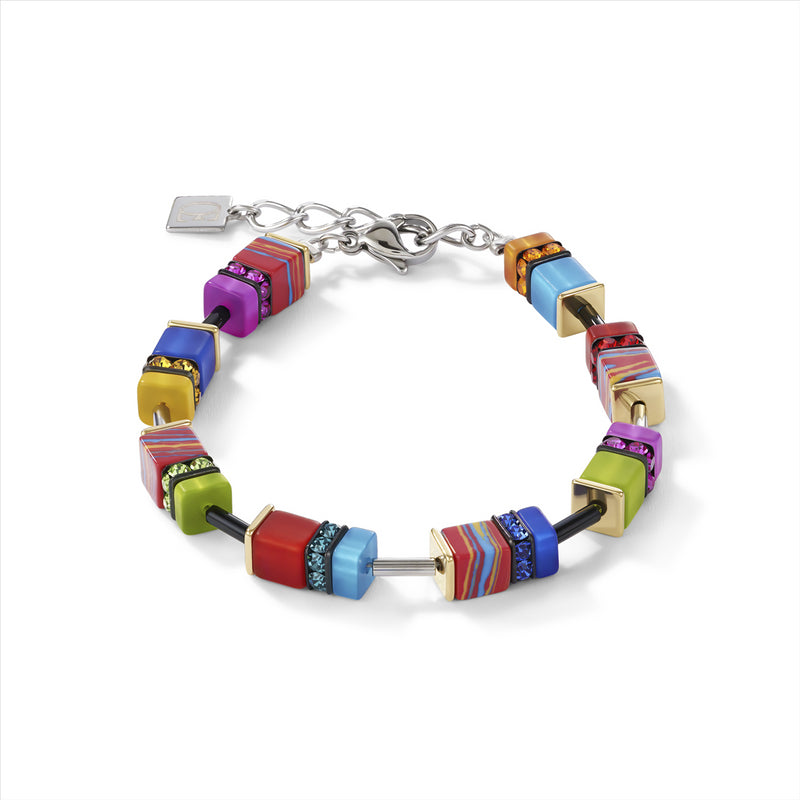 COEUR DE LION GeoCUBE® Malachite Multicolour Bracelet