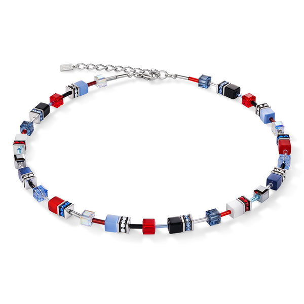 COEUR DE LION White, Red & Blue GEOCube® Necklace