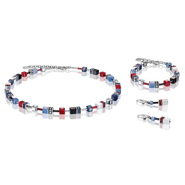 COEUR DE LION White, Red & Blue GEOCube® Bracelet