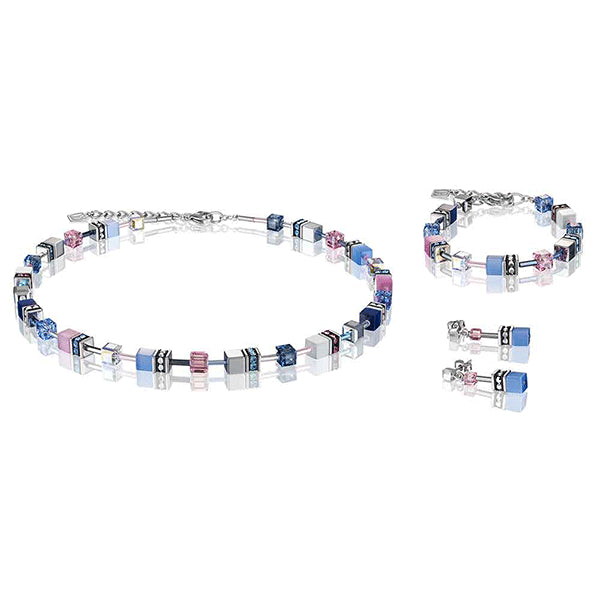 COEUR DE LION Blue, Rose & Haemetite GEOCube® Necklace