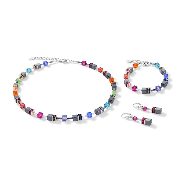 COEUR DE LION Multi-coloured GEOCube® Necklace