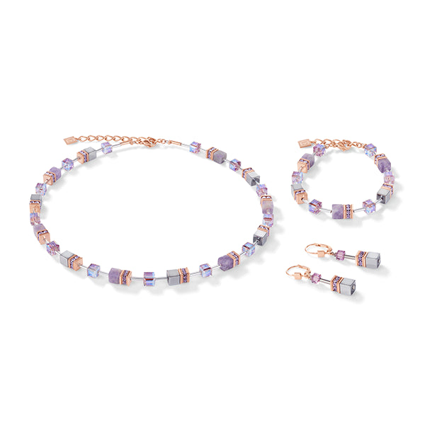 COEUR DE LION Natural Amethyst GEOCube® Necklace
