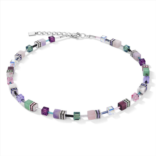 COEUR DE LION Natural Amethyst & Adventurine GEOCube® Necklace