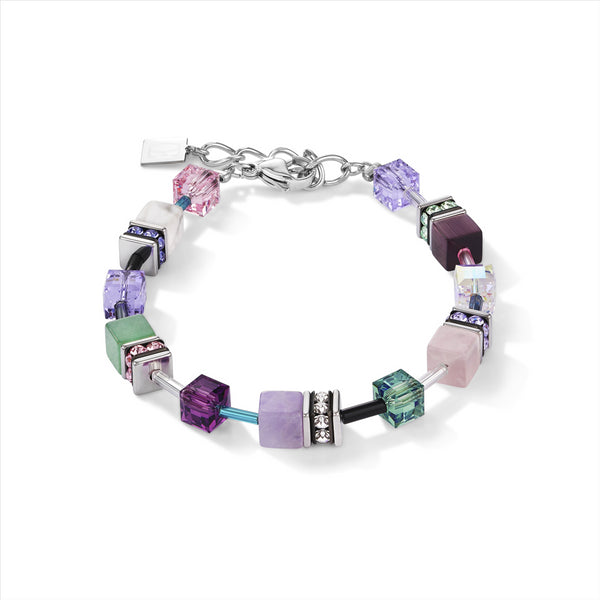 COEUR DE LION Natural Amethyst & Adventurine GEOCube® Bracelet