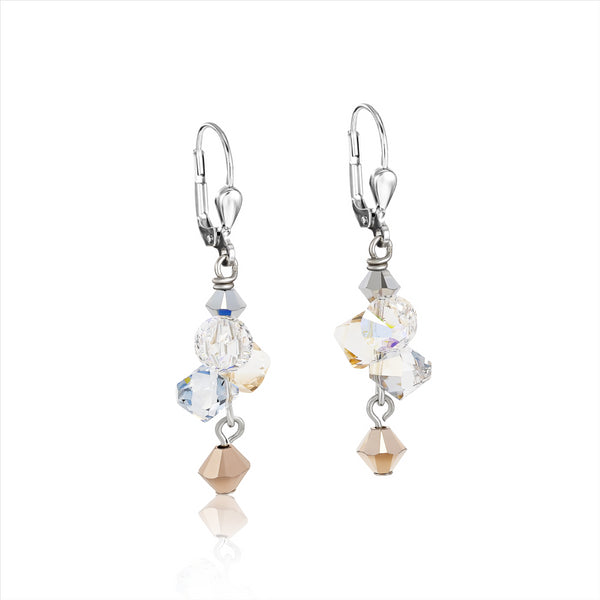 COEUR DE LION Champagne & Rose Gold Earrings