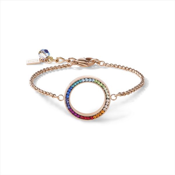 COEUR DE LION Rainbow Circle Crystal Bracelet