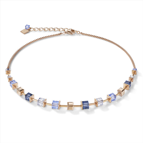 COEUR DE LION Monochrome Blue GEOCube® Necklace