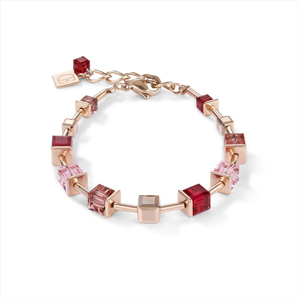 COEUR DE LION Red, Pink & Rose Gold GEOCube® Bracelet
