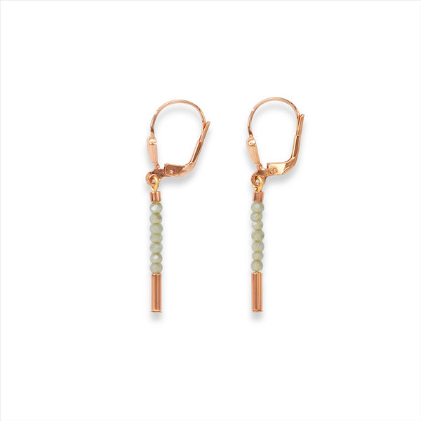 COEUR DE LION Mint Green Waterfall Earrings