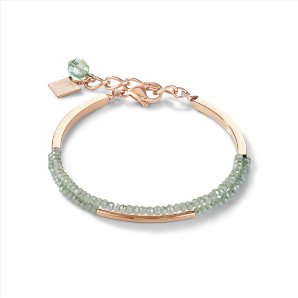 COEUR DE LION Mint Green Waterfall Bracelet