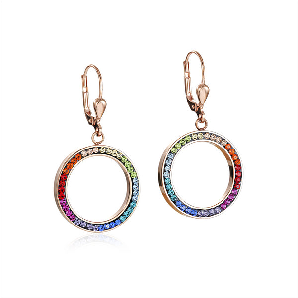 COEUR DE LION Rainbow Circle Crystal Earrings