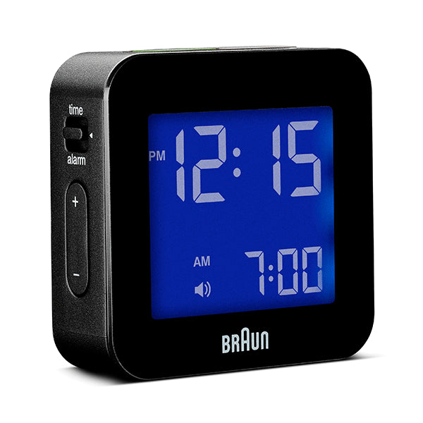 BRAUN Black Digital Travel Alarm Clock