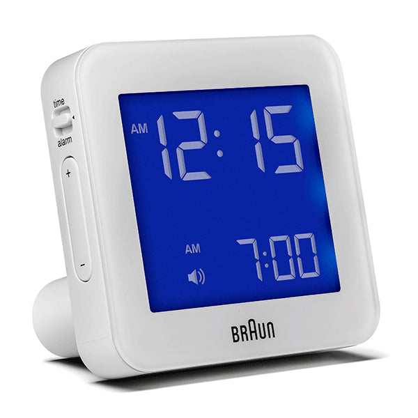 BRAUN White Digital Alarm Clock