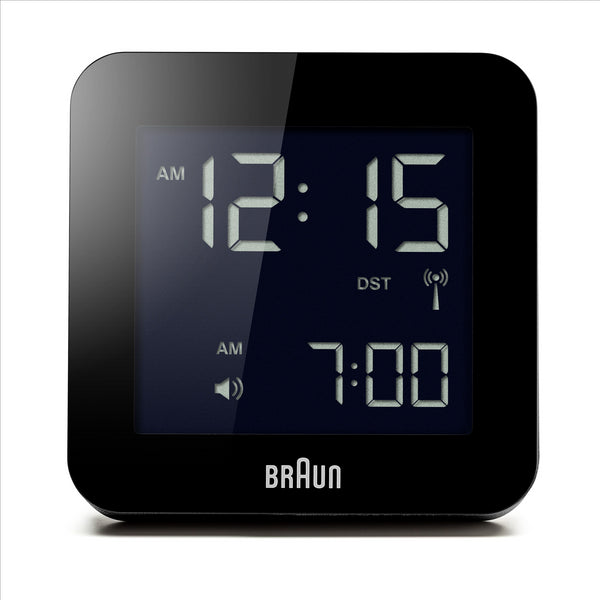 BRAUN Black Digital Alarm Clock