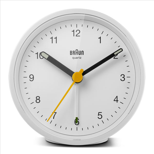 BRAUN Classic White Travel Alarm Clock