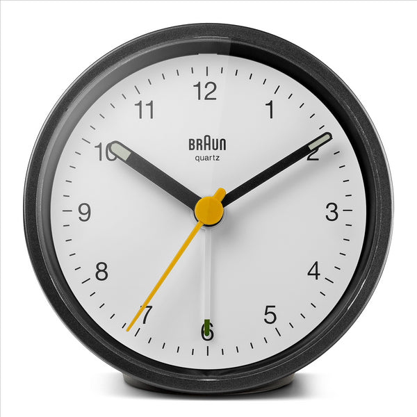 BRAUN Classic Black/White Travel Alarm Clock