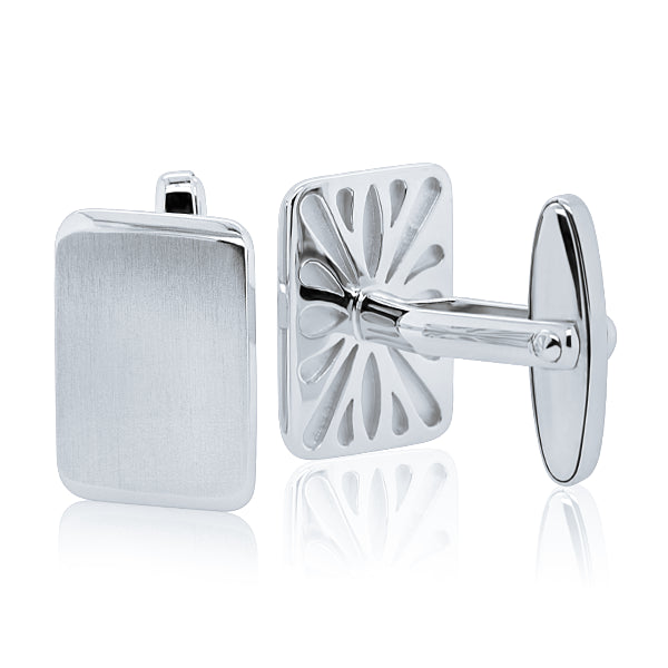 Breuning Sterling Silver Rectangular Cufflinks. Jarrett Jewellery has the best range of affordable cufflinks and quality mens jewellery in Sydney CBD.