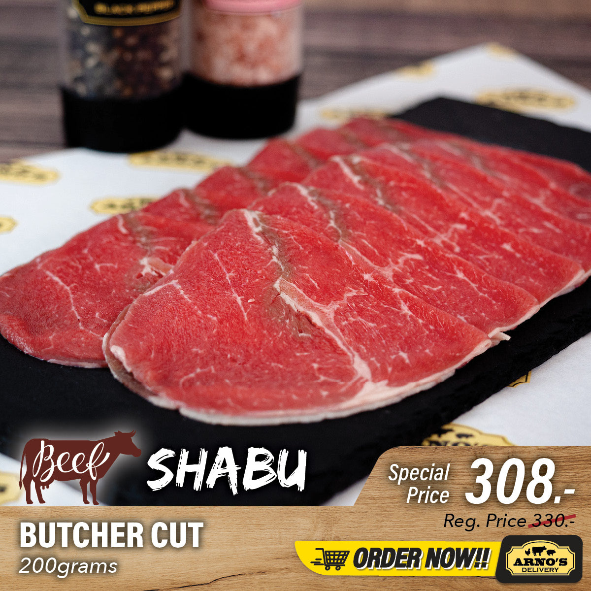 Butcher Cut Shabu 200g