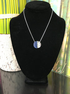Blue and Silver Pendent Necklace