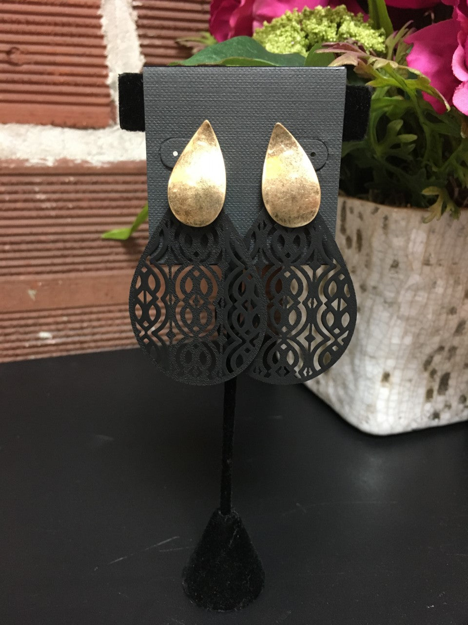 Plastic Cut Out Earrings