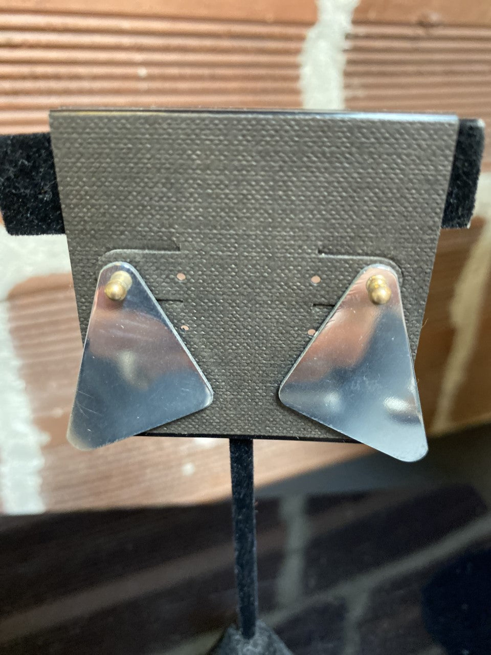 Aluminium Airplane Triangle Earrings