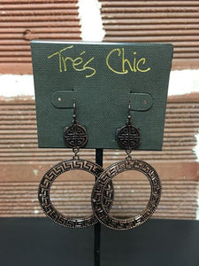 Cut Out Circle Dangle Earrings