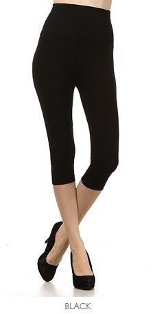 Cropped High Waist Leggings