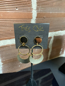 Large Circle Dangle Earrings