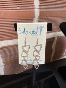 Dangle Triangles with Sparkle Earrings