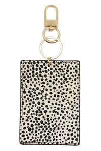 Genuine Leather Animal Print ID Holder