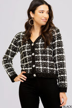 Load image into Gallery viewer, Faux Chanel Sweater Cardigan