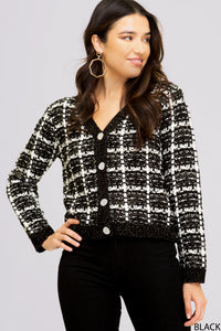 Faux Chanel Sweater Cardigan