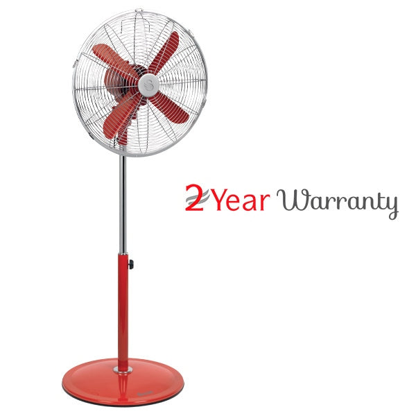 Swan SFA1PRA RETRO 40CM PEDESTAL FAN - RED