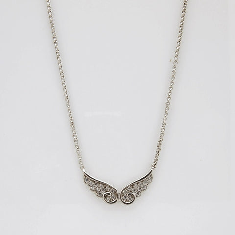 Nomination Angel Collection Silver CZ Wings Necklace